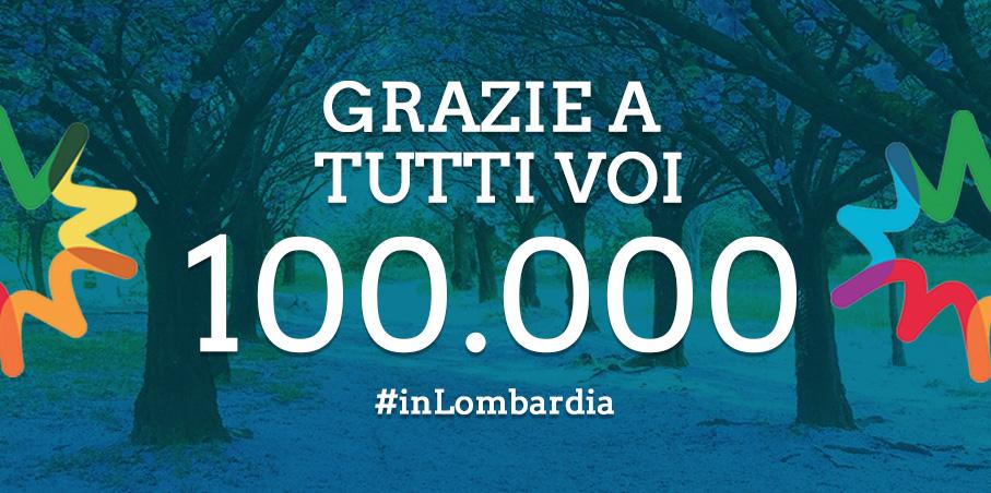 inLOMBARDIA ha raggiunto 100.000 fan su Facebook