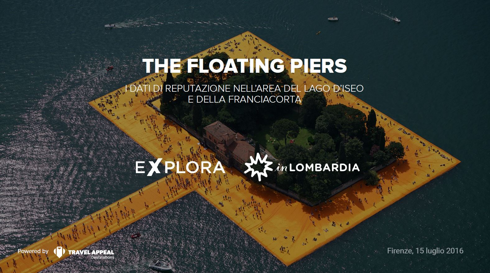 inLOMBARDIA tramite Travel Appeal comunica i dati social di The Floating Piers