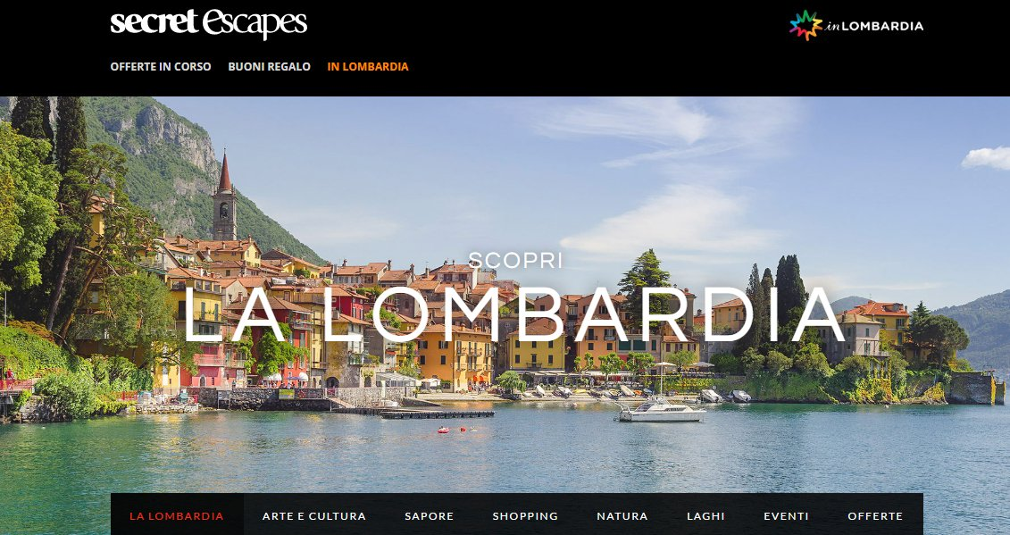 E' online su Secret Escapes la campagna di #inLombardia