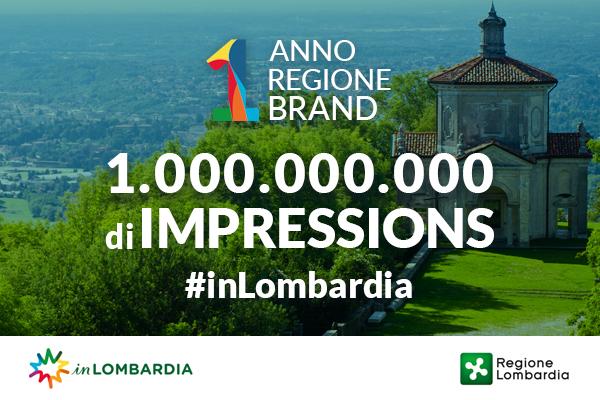 1 anno, 1 regione, 1 miliardo di impressions