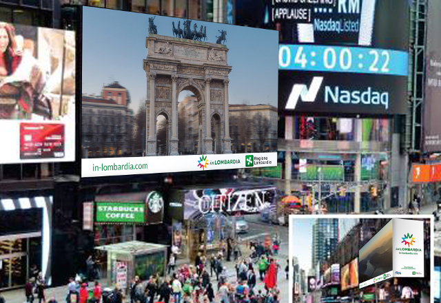 INLOMBARDIA è ON AIR A TIMES SQUARE NY