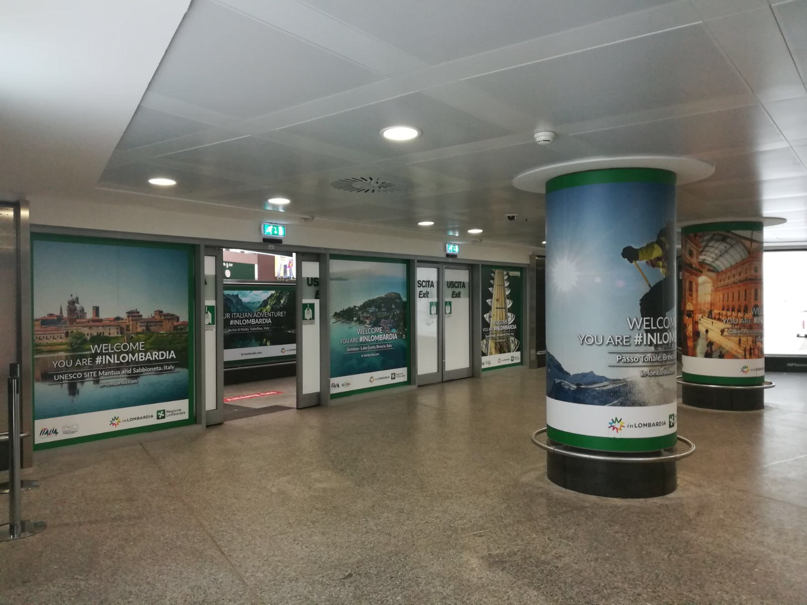 WELCOME… #inLOMBARDIA agli arrivi di Malpensa