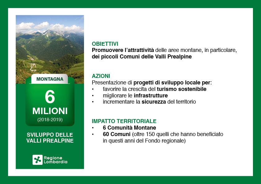 Valli Prealpine, 6 milioni per lo sviluppo del territorio