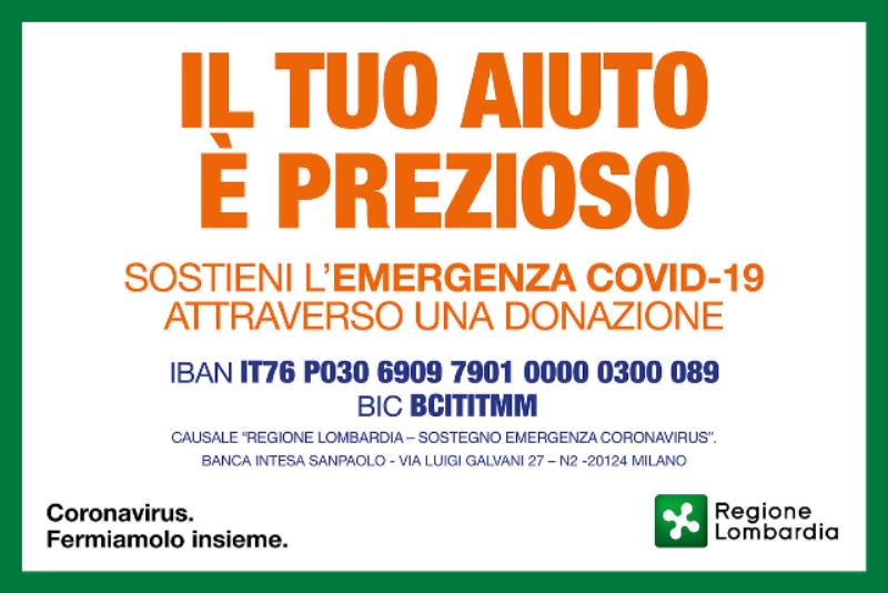 Sostieni l'emergenza COVID-19, il tuo aiuto è prezioso!