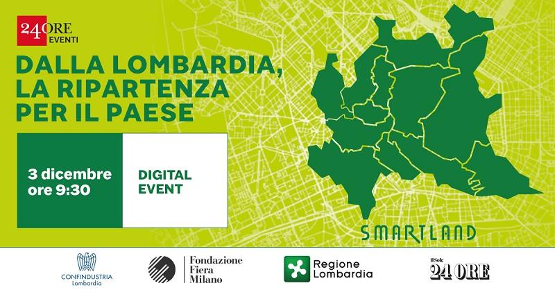 Smartland: dalla Lombardia, la ripartenza per il Paese